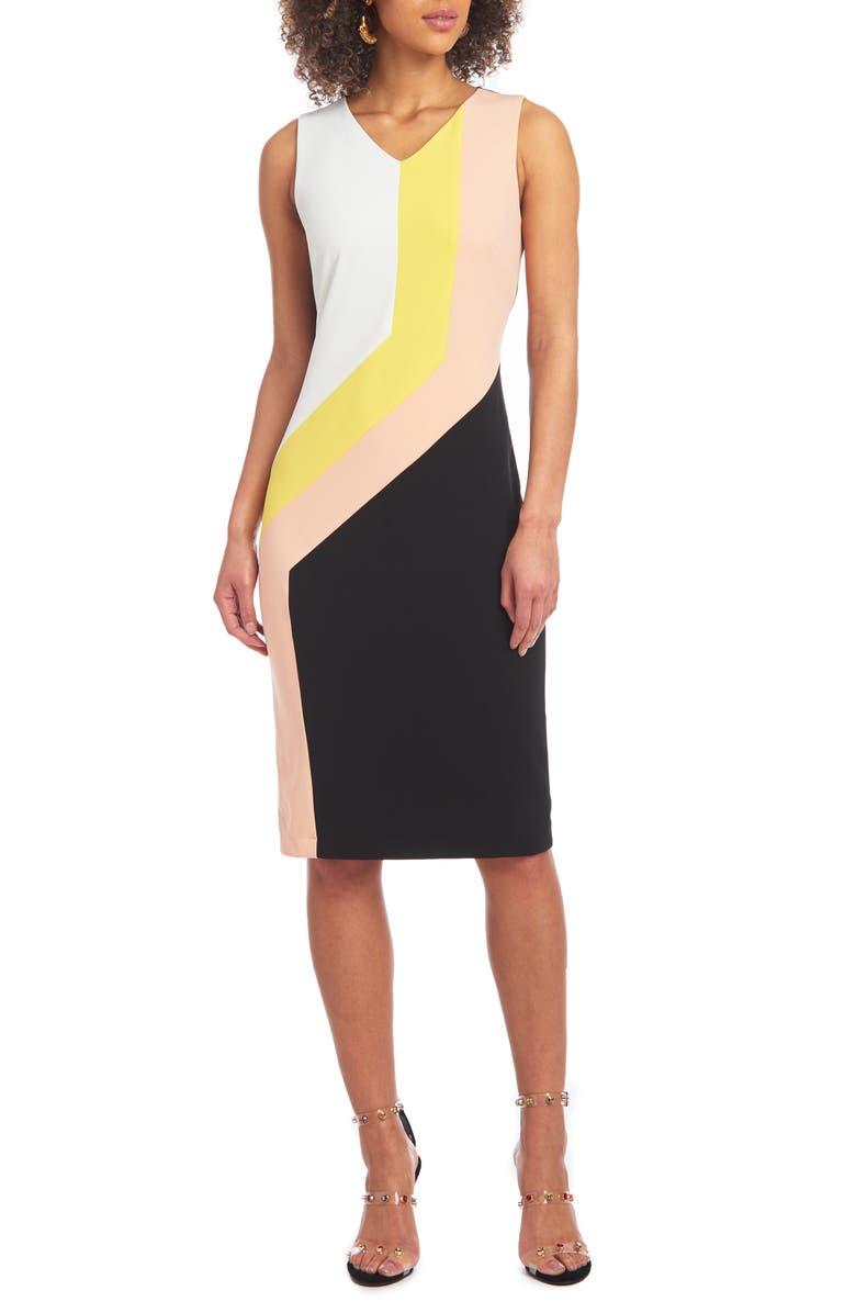 CHRISTIAN SIRIANO Colorblock Sheath Dress, Main, color, MULTI COMBO
