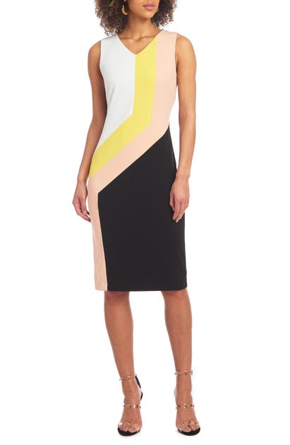Christian Siriano COLORBLOCK SHEATH DRESS