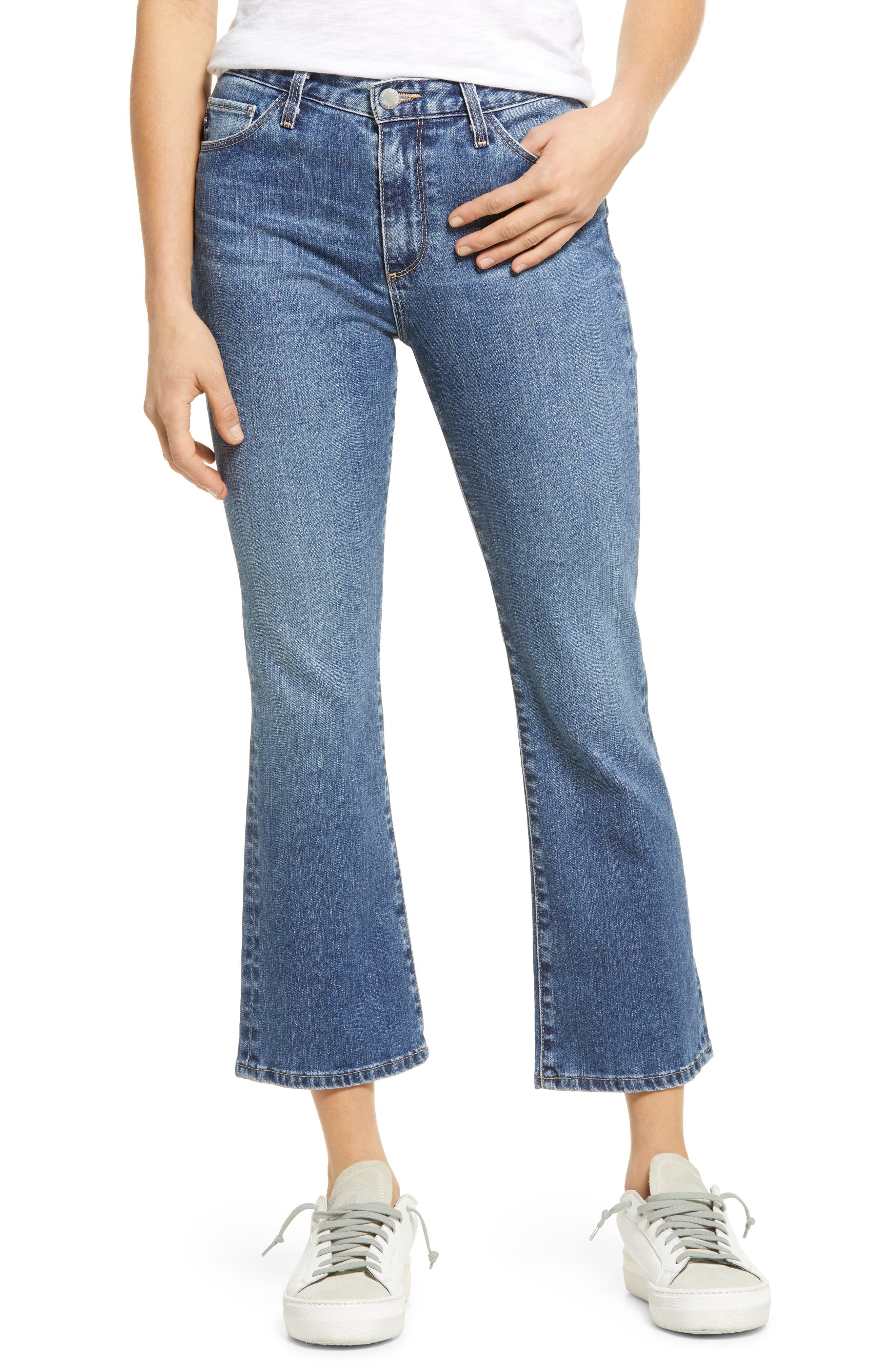 Jeans Jodi Ripped Crop Flare Jeans