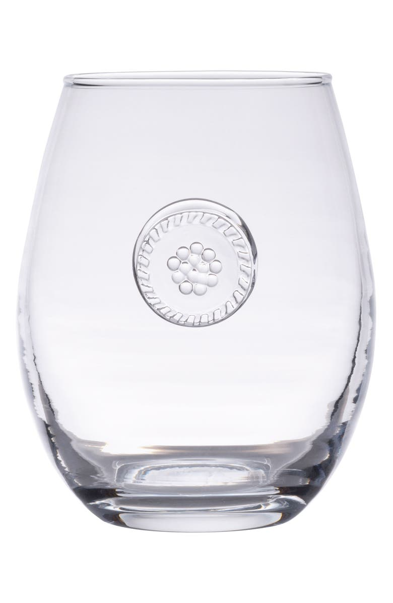 JULISKA Berry & Thread Stemless White Wine Glass, Main, color, 100