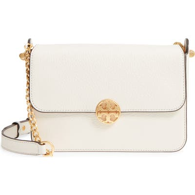 Tory Burch Chelsea Leather Crossbody Bag - White