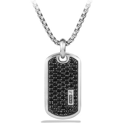 David Yurman Exotic Stone Pave Tag With Diamonds Or Sapphires