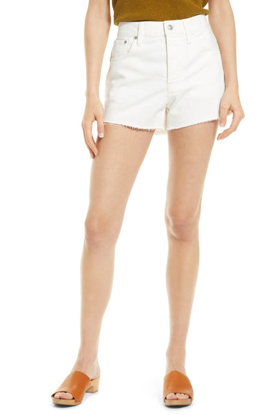 Madewell Relaxed Denim Shorts In Tile White
