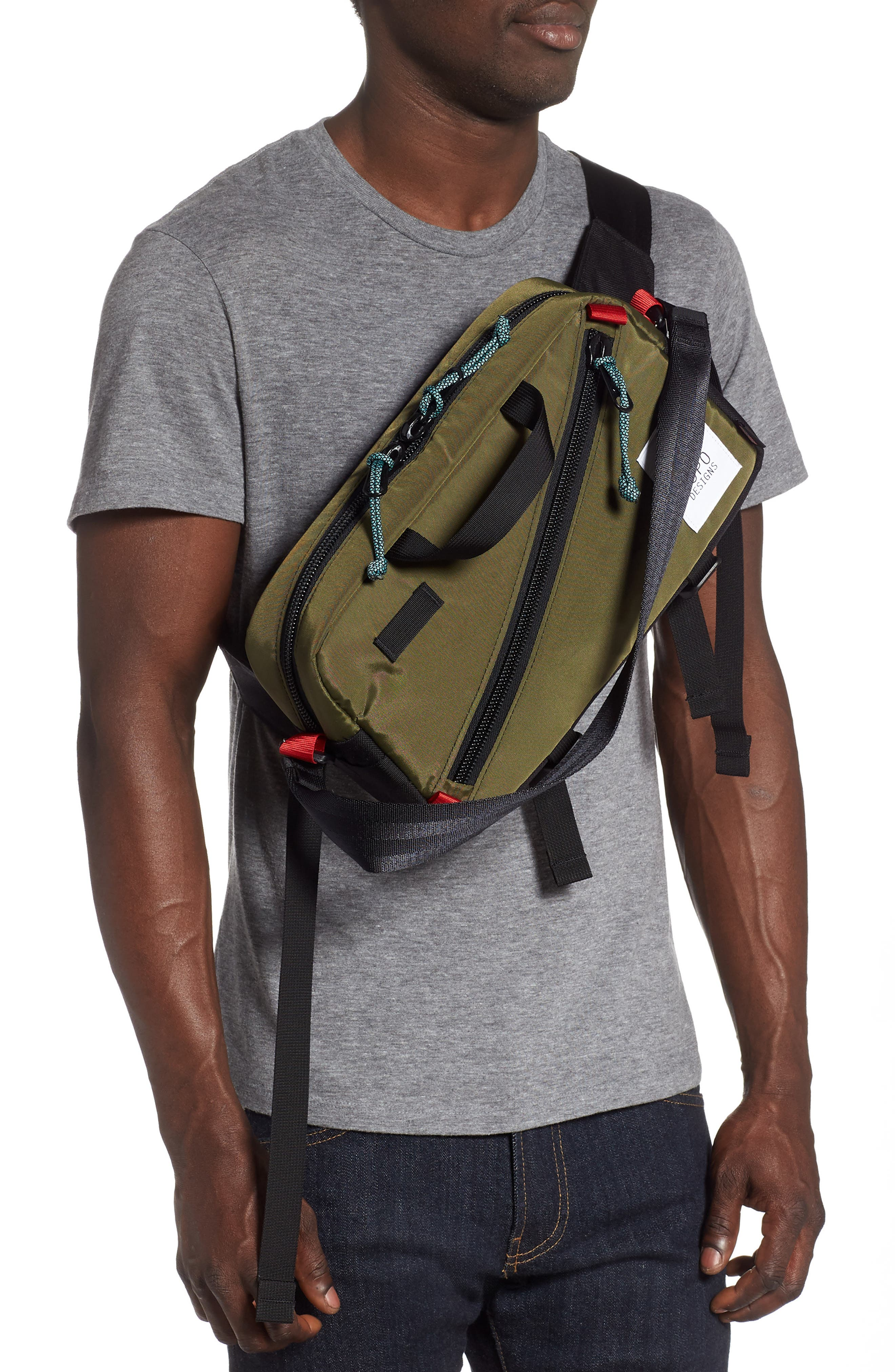 ,                             Quick Pack Belt Bag,                             Alternate thumbnail 4, color,                             OLIVE/ BLACK