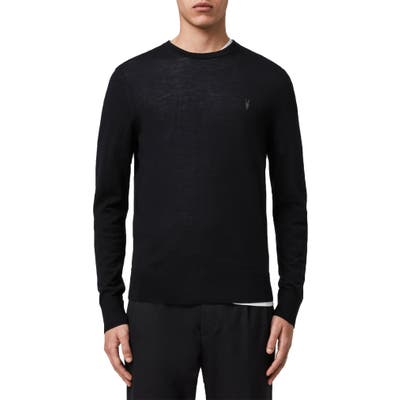 Allsaints Mode Slim Fit Merino Wool Sweater, Black