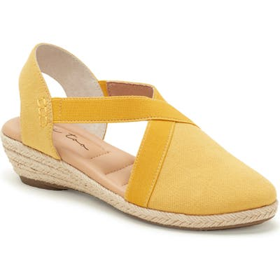 Me Too Nissa Espadrille Wedge- Yellow