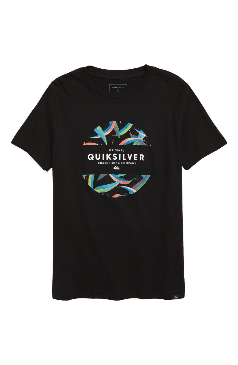 QUIKSILVER Mixed Graphic T-Shirt, Main, color, 002
