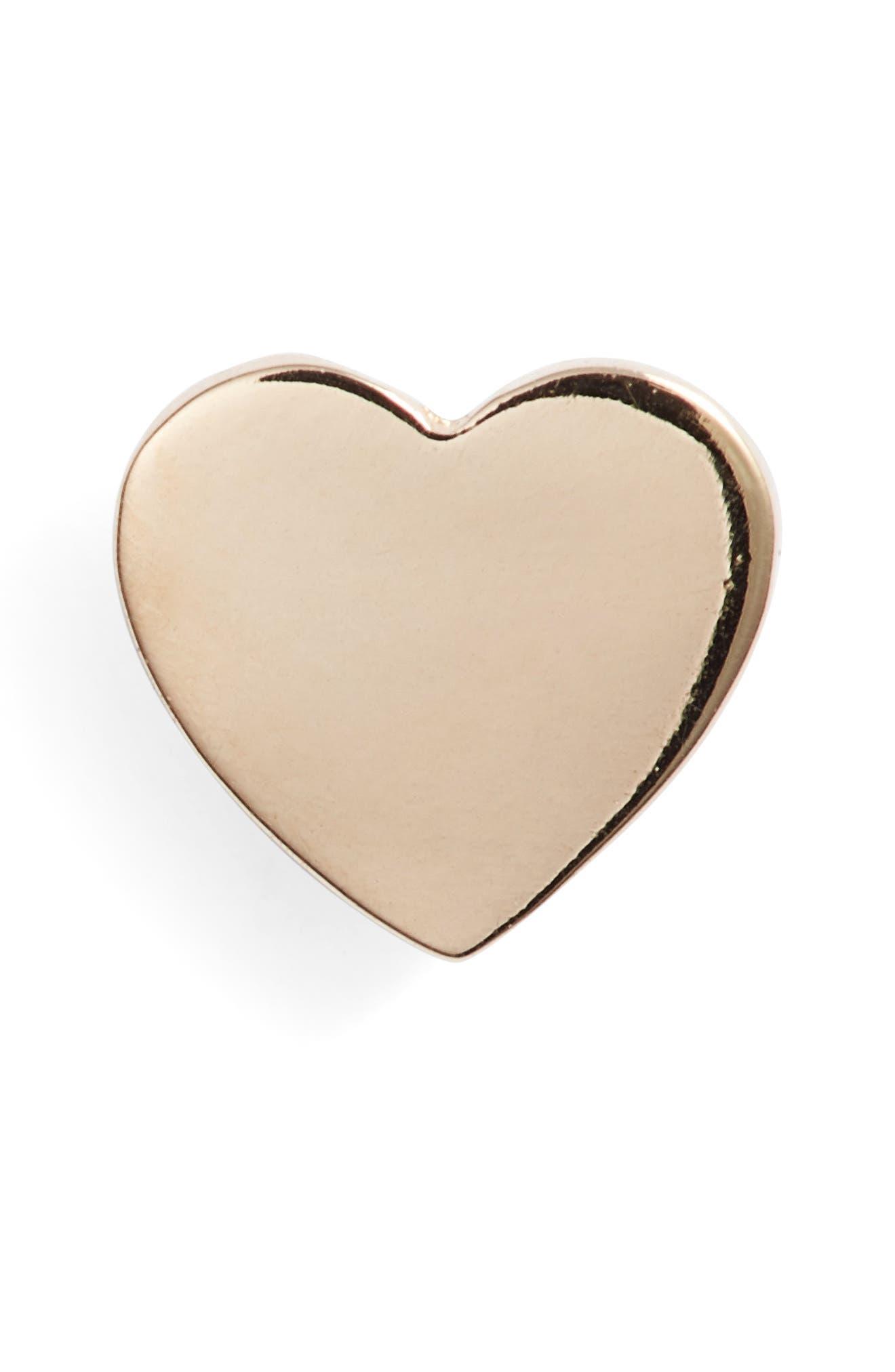 Heart Single Stud Earring