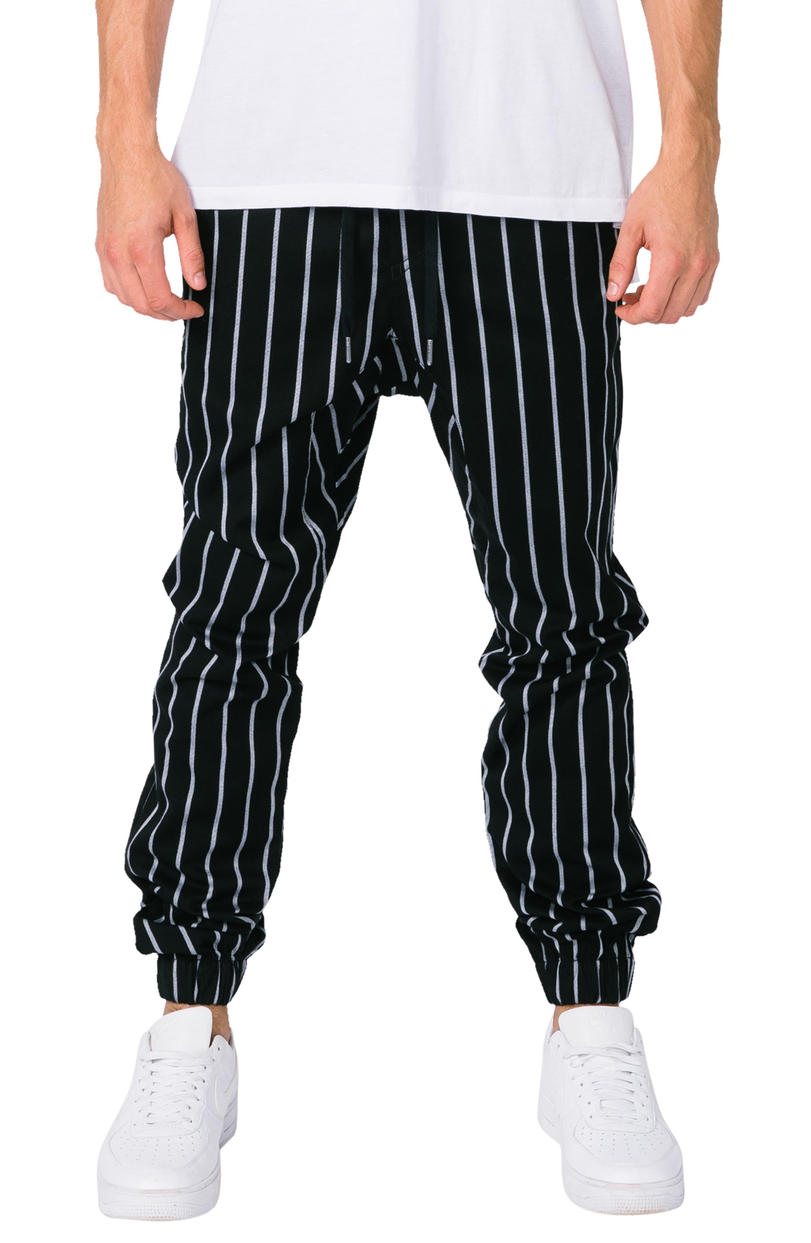 Zanerobe Sureshot Slim Fit Stripe Sweatpants, Black