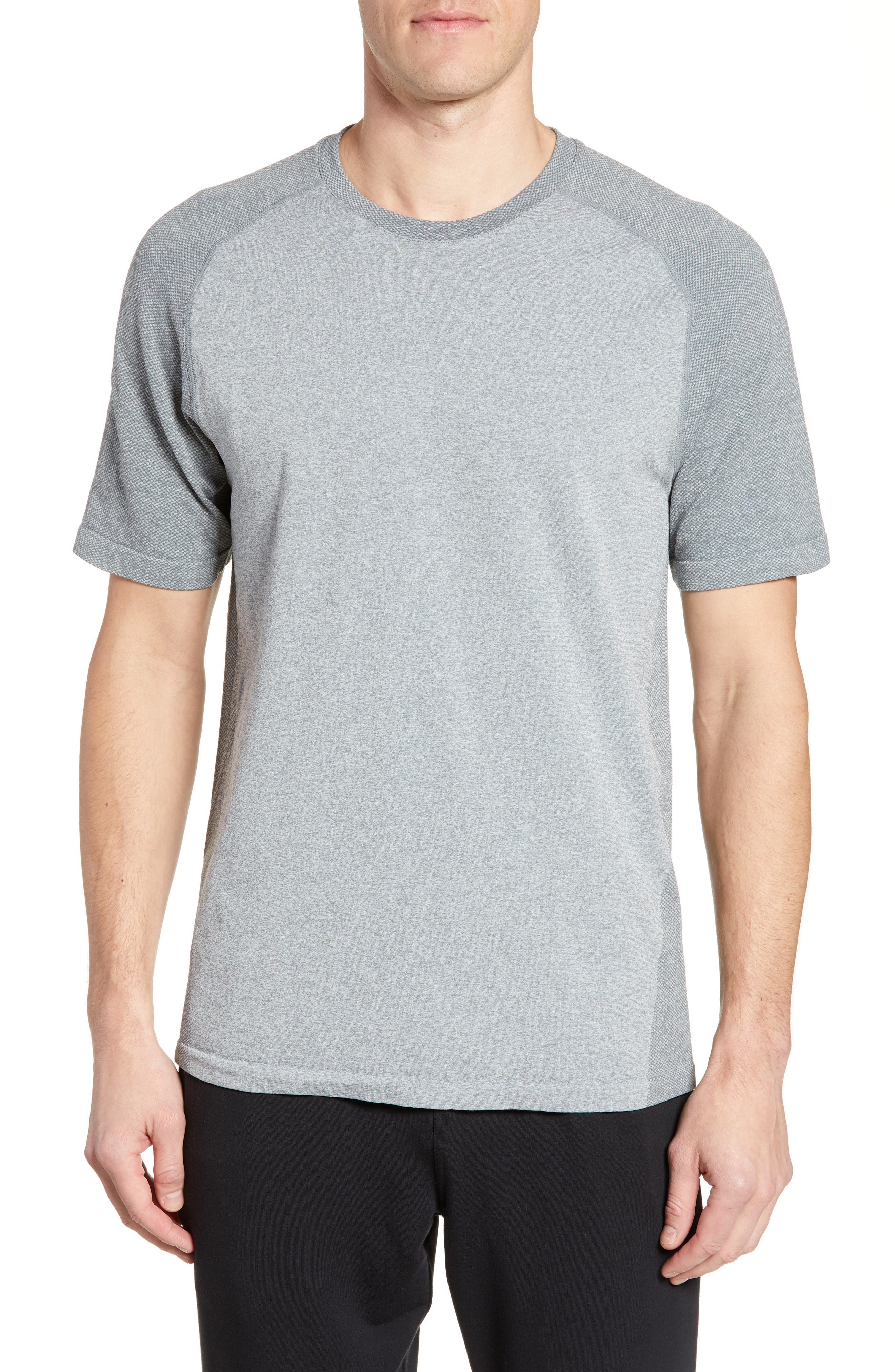 ,                             Seamless Raglan T-Shirt,                             Main thumbnail 1, color,                             GREY MONUMENT MELANGE