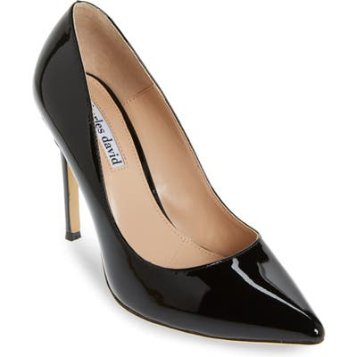 Charles David Calessi Pointy Toe Pump, Black