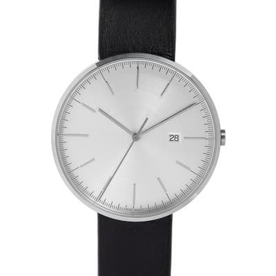 Uniform Wares M-Line Leather Strap Watch, 40Mm