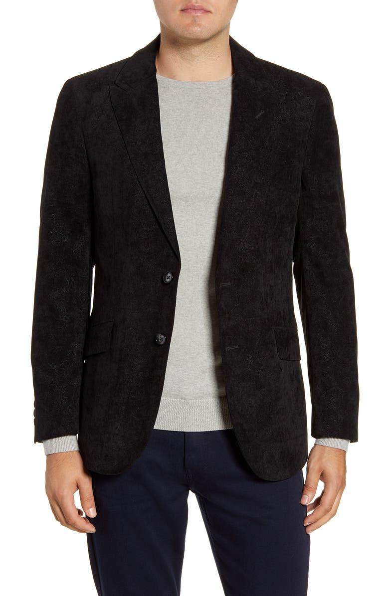 ROBERT GRAHAM Spruce Regular Fit Velvet Sport Coat, Main, color, 001