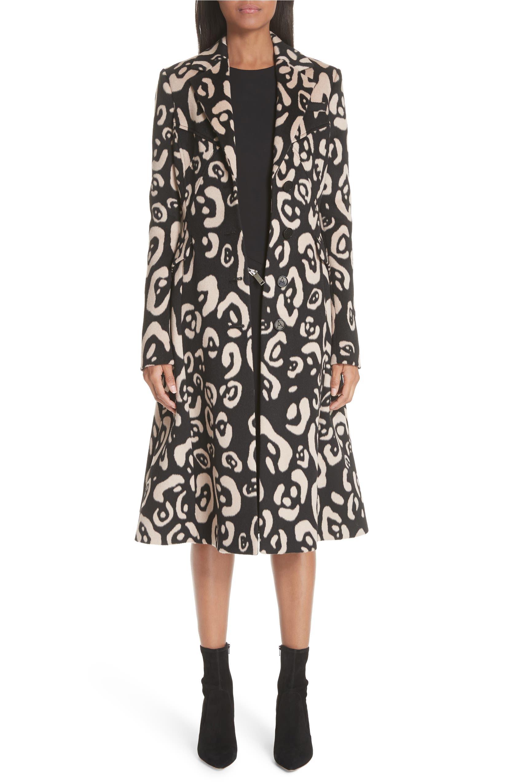 a952901ab566 Altuzarra Driss Leopard Print Wool Blend Coat   Nordstrom