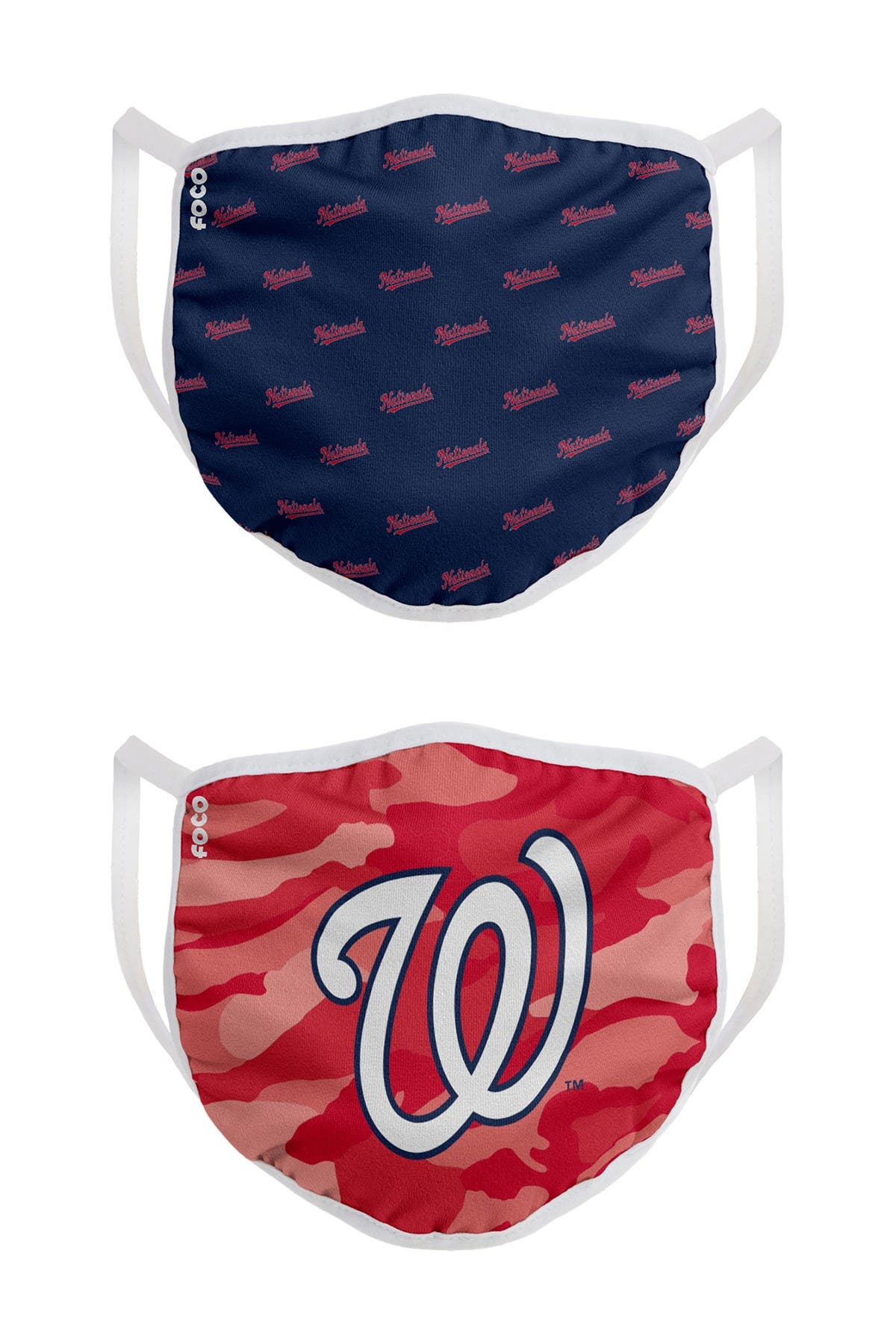 Image of FOCO MLB Washington Nationals Clutch Printed Face Cover - Pack of 2