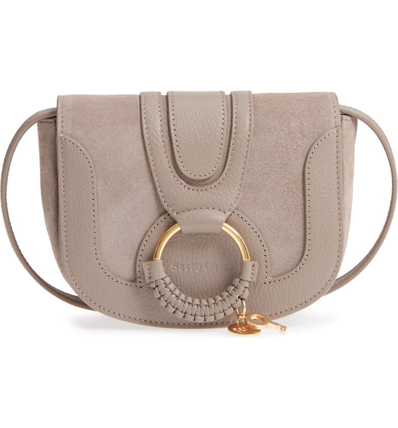 SEE BY CHLOÉ Mini Hana Leather & Suede Crossbody Bag, Main, color, 260