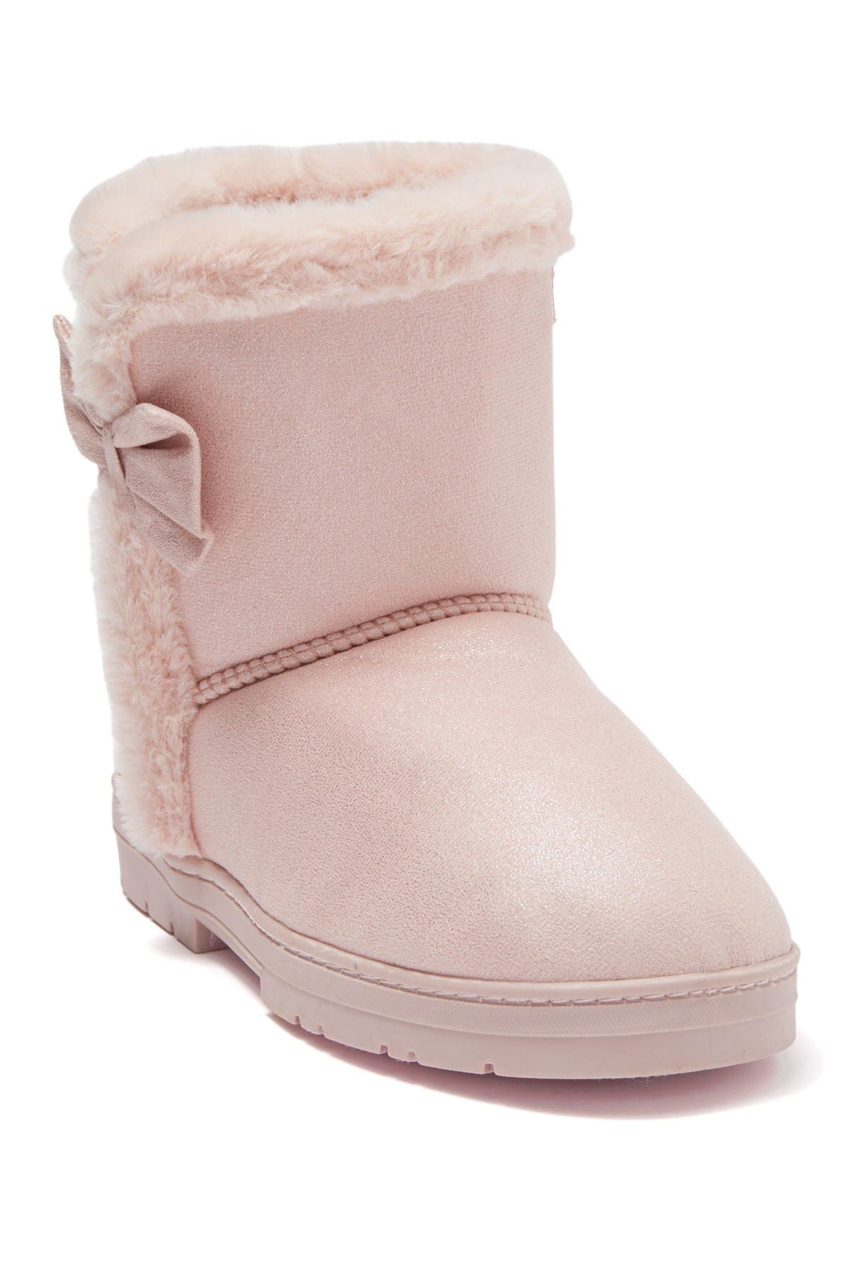 Bebe Faux Fur Lined Shimmer Microsuede Boot