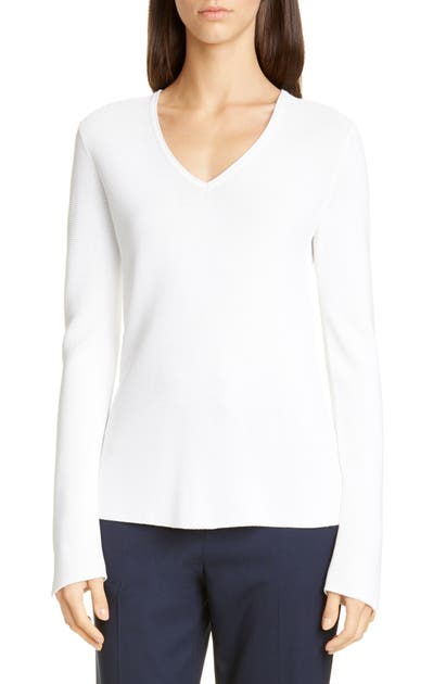 St. John Sweaters LUXE LINKS TEXTURED SWEATER