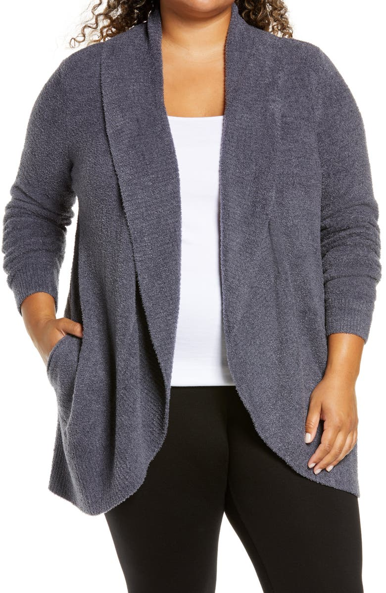 BAREFOOT DREAMS<SUP>®</SUP> CozyChic Lite<sup>®</sup> Circle Cardigan, Main, color, PACIFIC BLUE