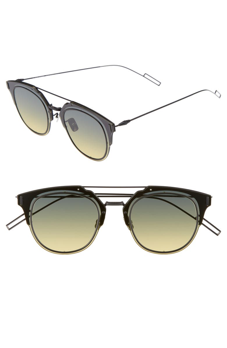 CHRISTIAN DIOR Dior 'Composit 1.0S' 62mm Metal Shield Sunglasses, Main, color, 005