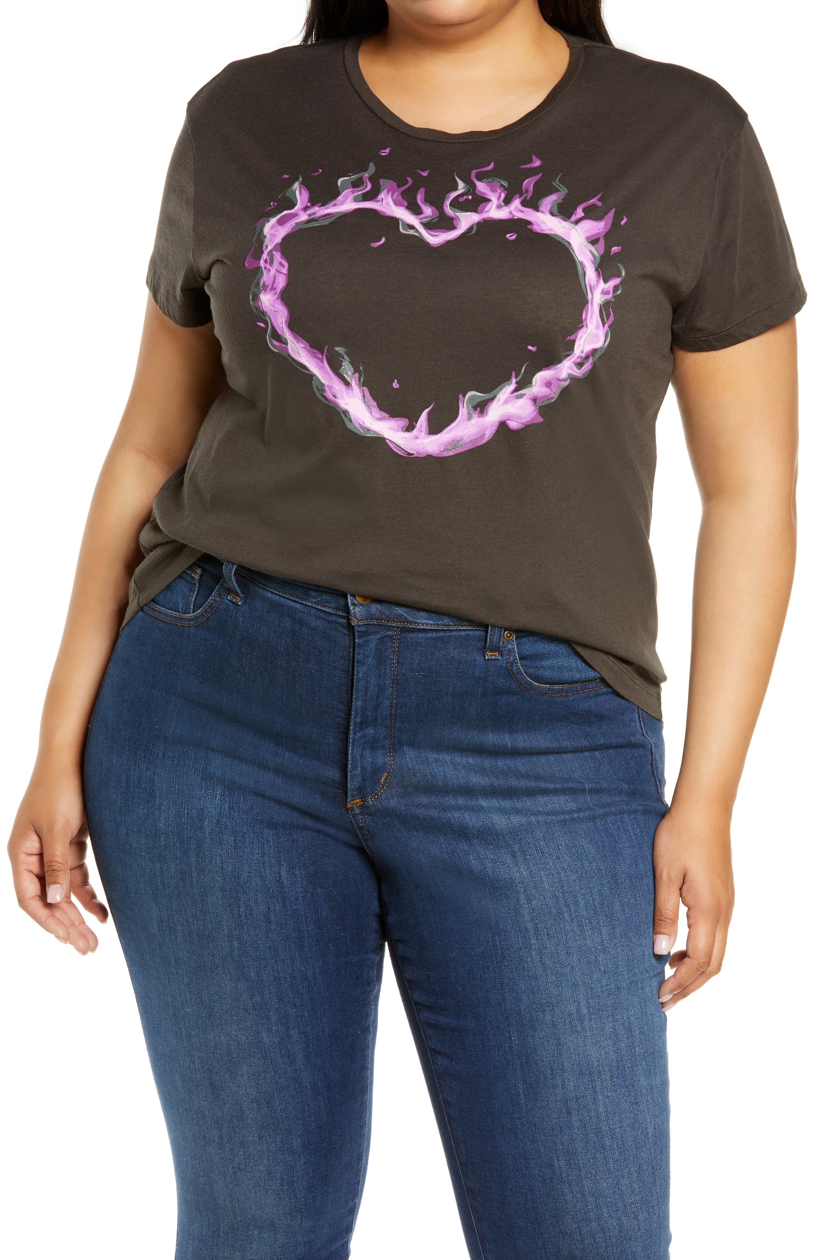 Flaming Heart Graphic Tee