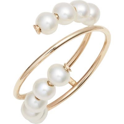 Poppy Finch Pearl Spiral Ring