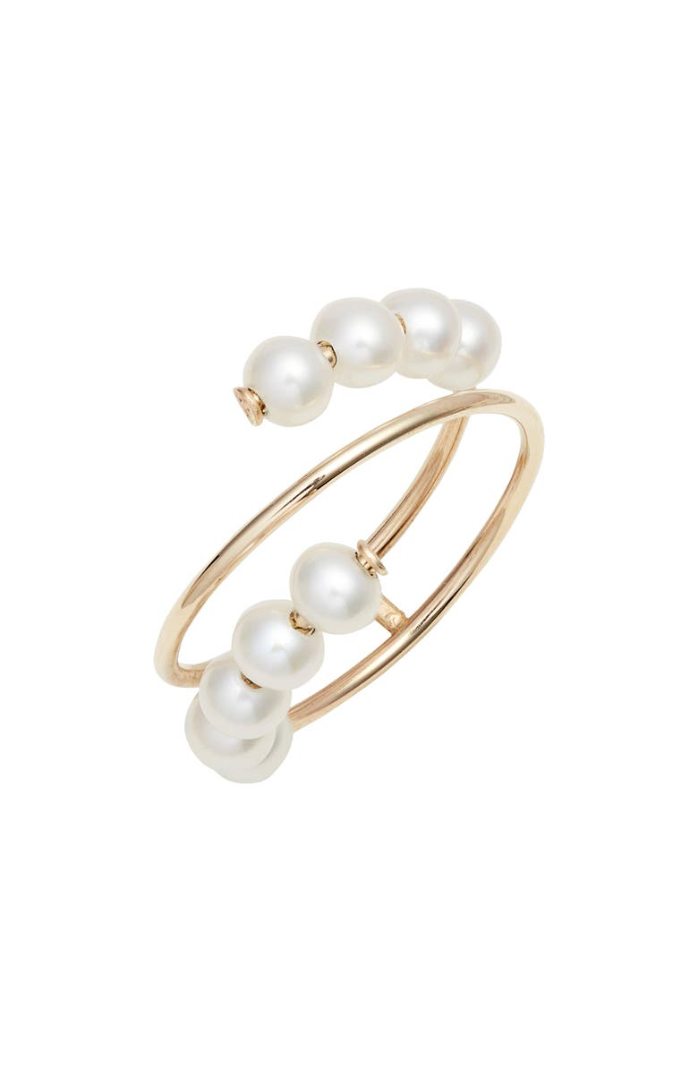 POPPY FINCH Pearl Spiral Ring, Main, color, GOLD/ PEARL
