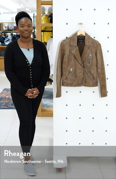 Worn Leather Moto Jacket, sales video thumbnail