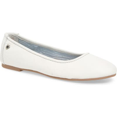 Minnetonka Anna Ballerina Flat- White