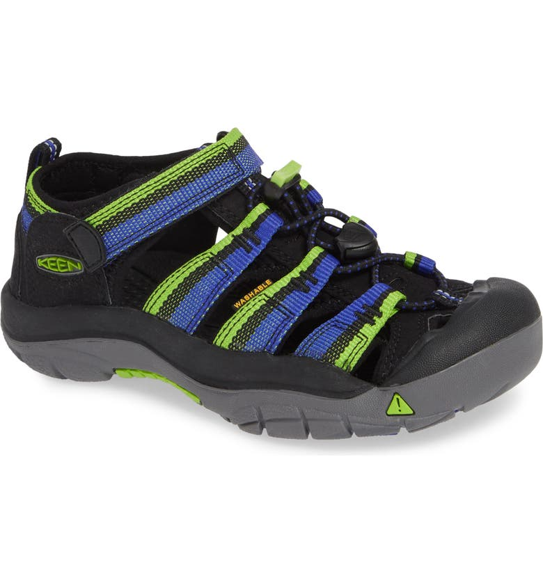 KEEN 'Newport H2' Water Friendly Sandal, Main, color, RACER BLACK
