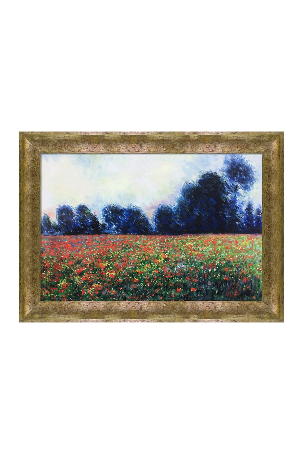 Poppies at Giverny - Framed Oil Reproduction of an Original Painting by Claude Monet at Nordstrom Rack