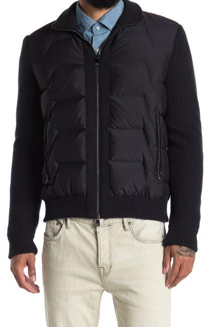 Image of Corneliani Tech Quilted Bodice Zip Jacket