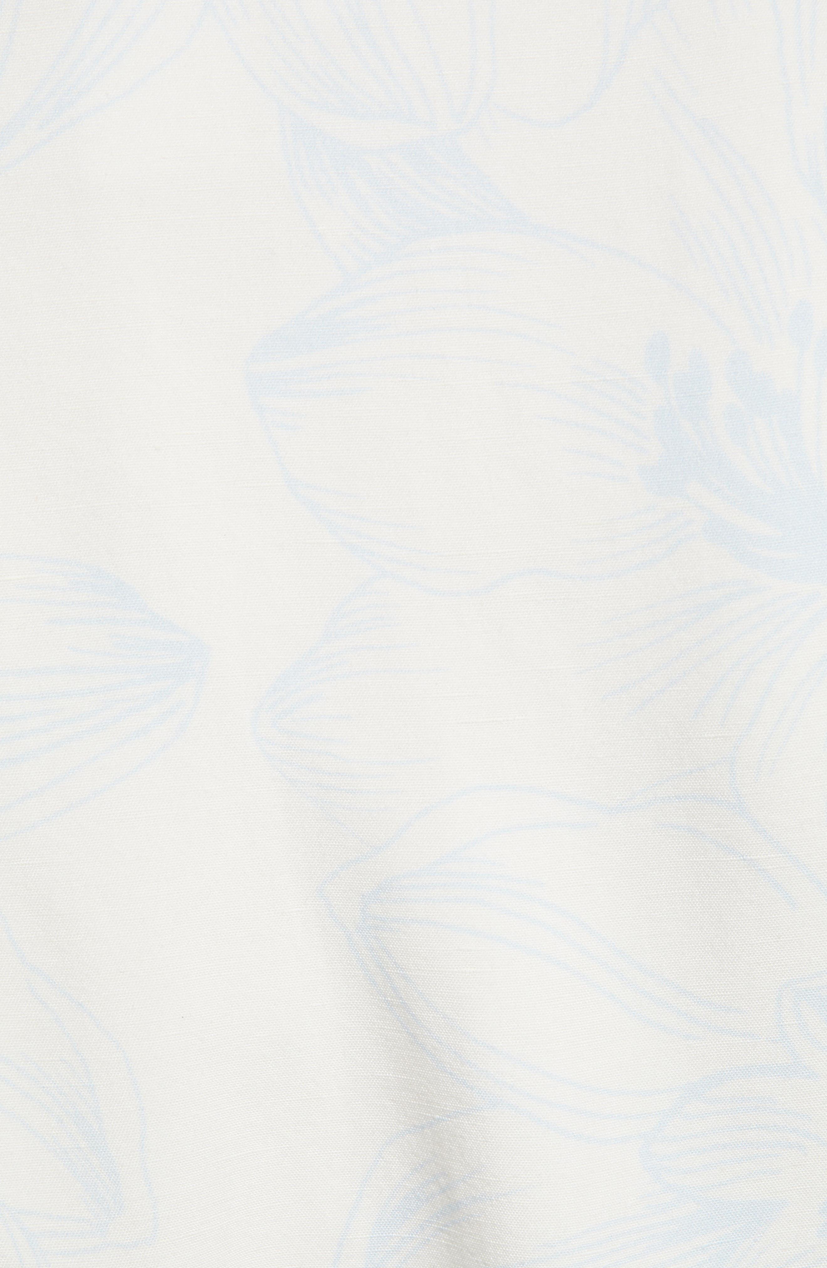 ,                             Ruffle Wrap Dress,                             Alternate thumbnail 7, color,                             IVORY DOVE SKETCH FLORAL