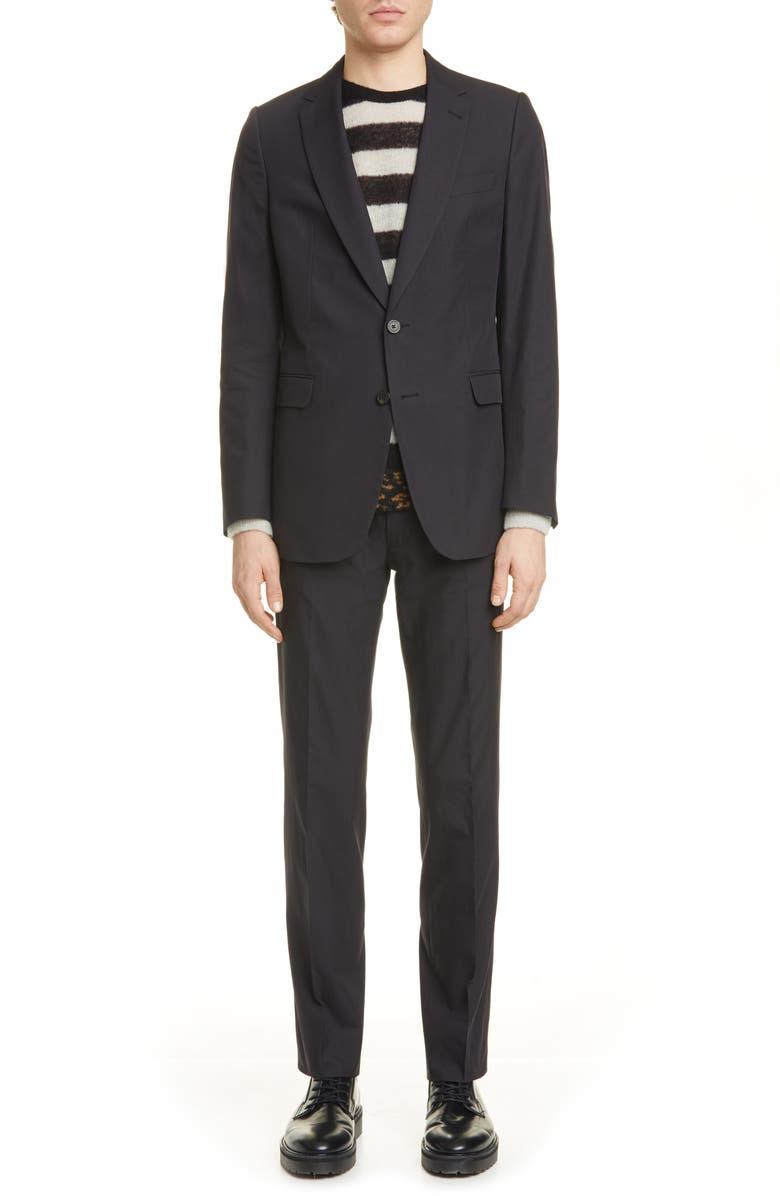DRIES VAN NOTEN Kline Suit, Main, color, MID NAVY511
