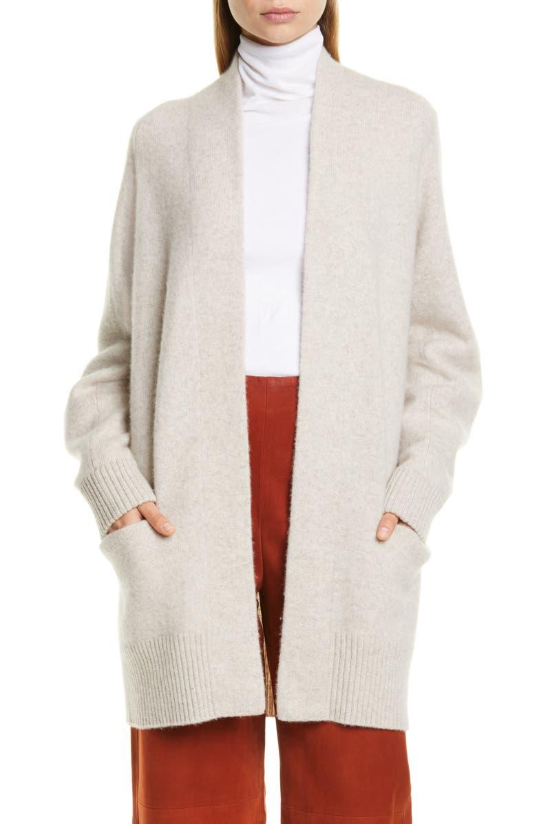 VINCE Raglan Sleeve Cashmere Cardigan, Main, color, MARBLE