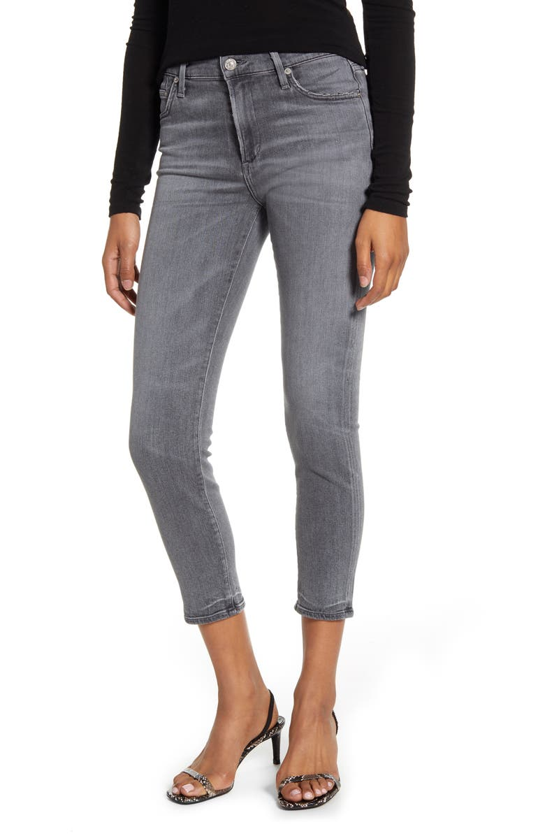 CITIZENS OF HUMANITY Rocket Crop Skinny Jeans, Main, color, TRANCE