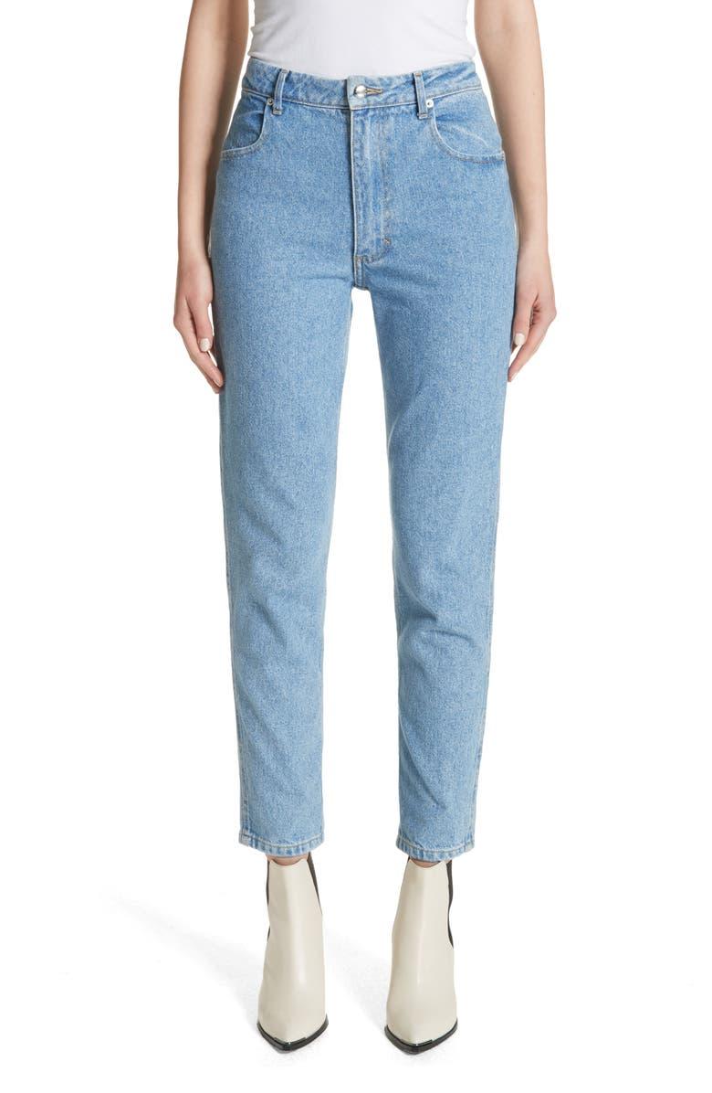 ECKHAUS LATTA High Waist Slim Crop Jeans, Main, color, 400
