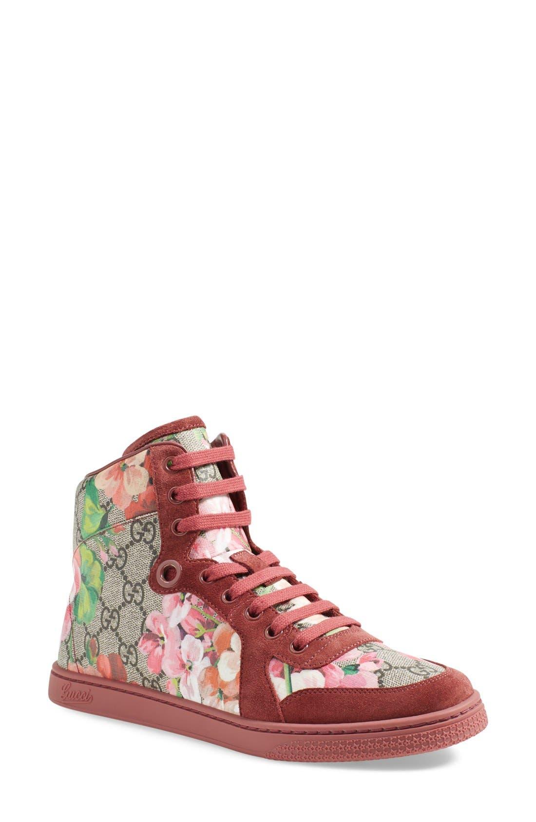 Gucci 'Coda - Bloom' High Top Sneaker