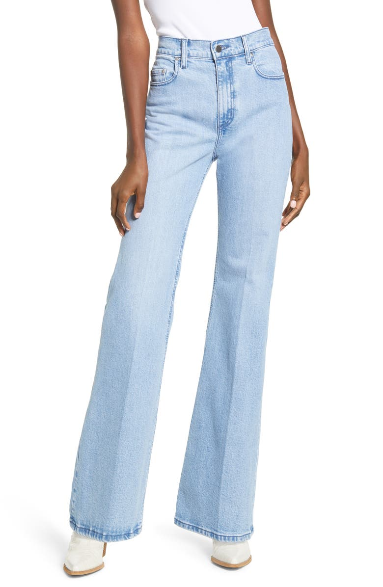NOBODY DENIM Jacqueline High Waist Flare Leg Jeans, Main, color, COAST