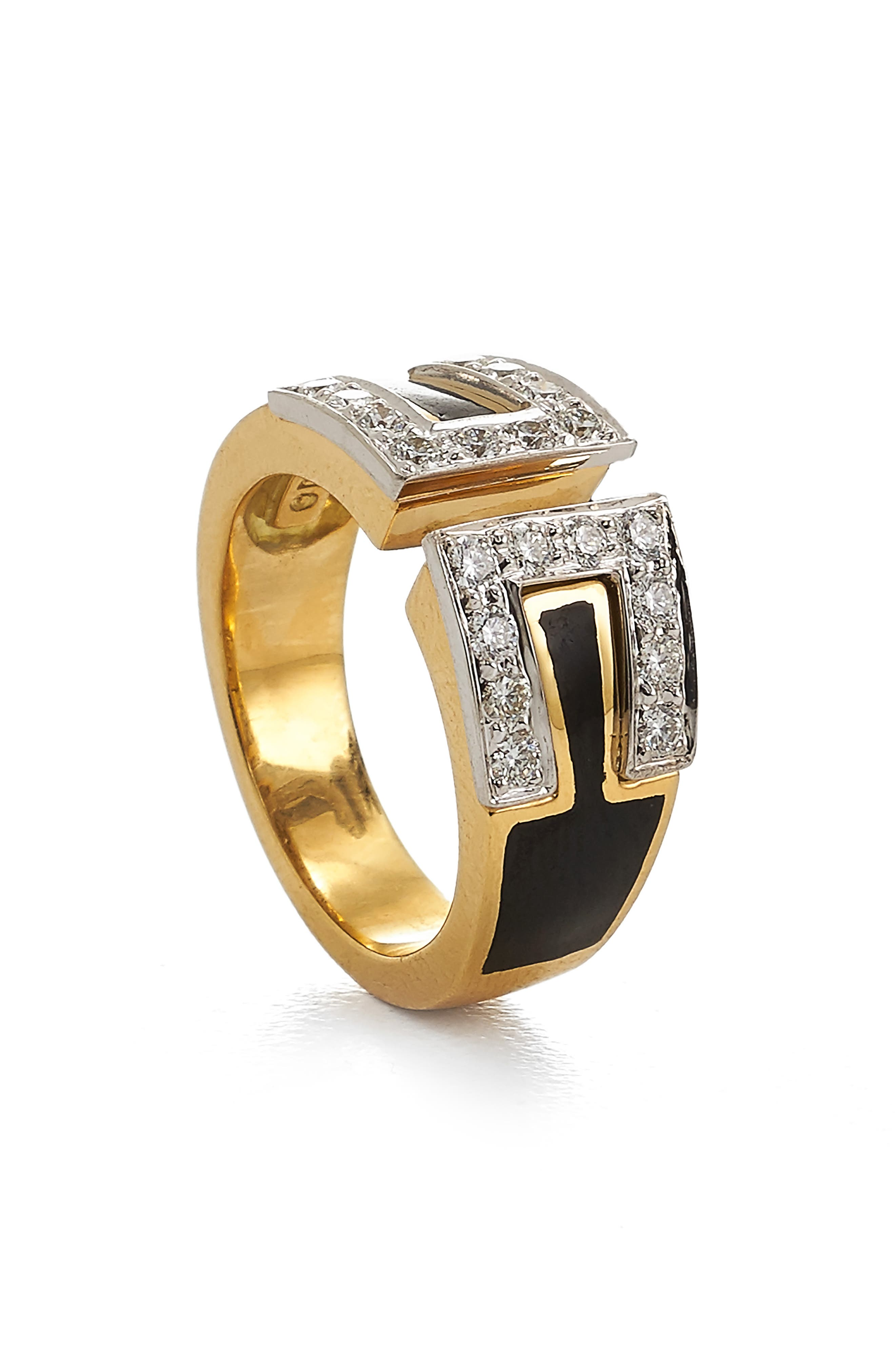 Motif Gap Diamond Ring