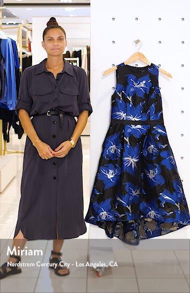 Floral Fil Coupé Fit & Flare Dress, sales video thumbnail