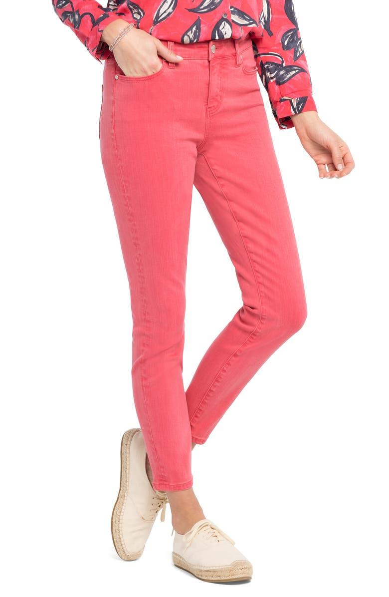 NIC+ZOE Skinny Jeans, Main, color, GERANIUM