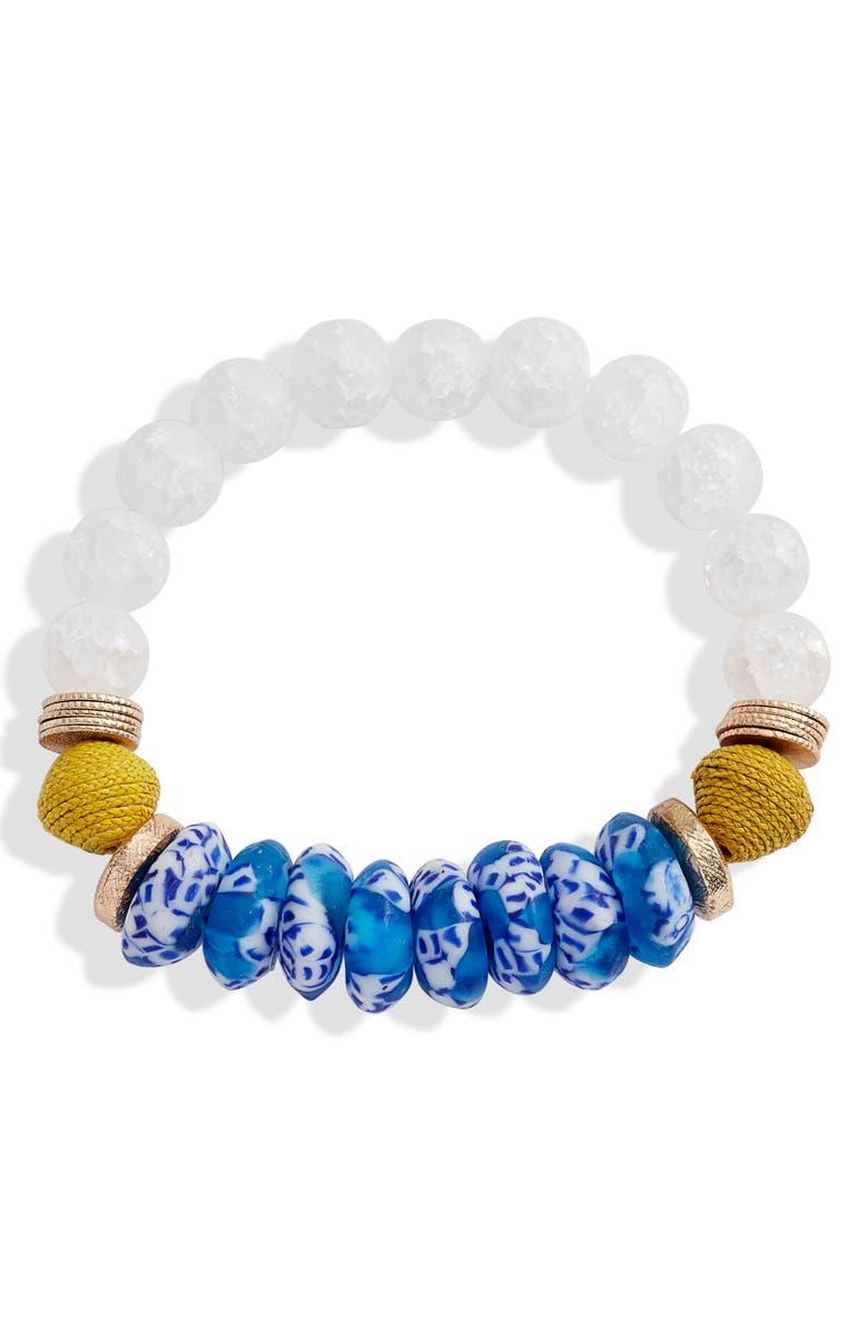 AKOLA Selma Beaded Bracelet, Main, color, 400