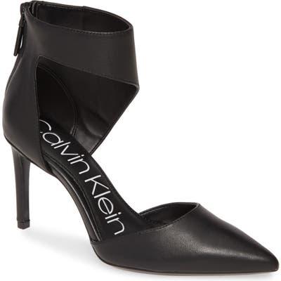 Calvin Klein Rajon Ankle Wrap Pump, Black