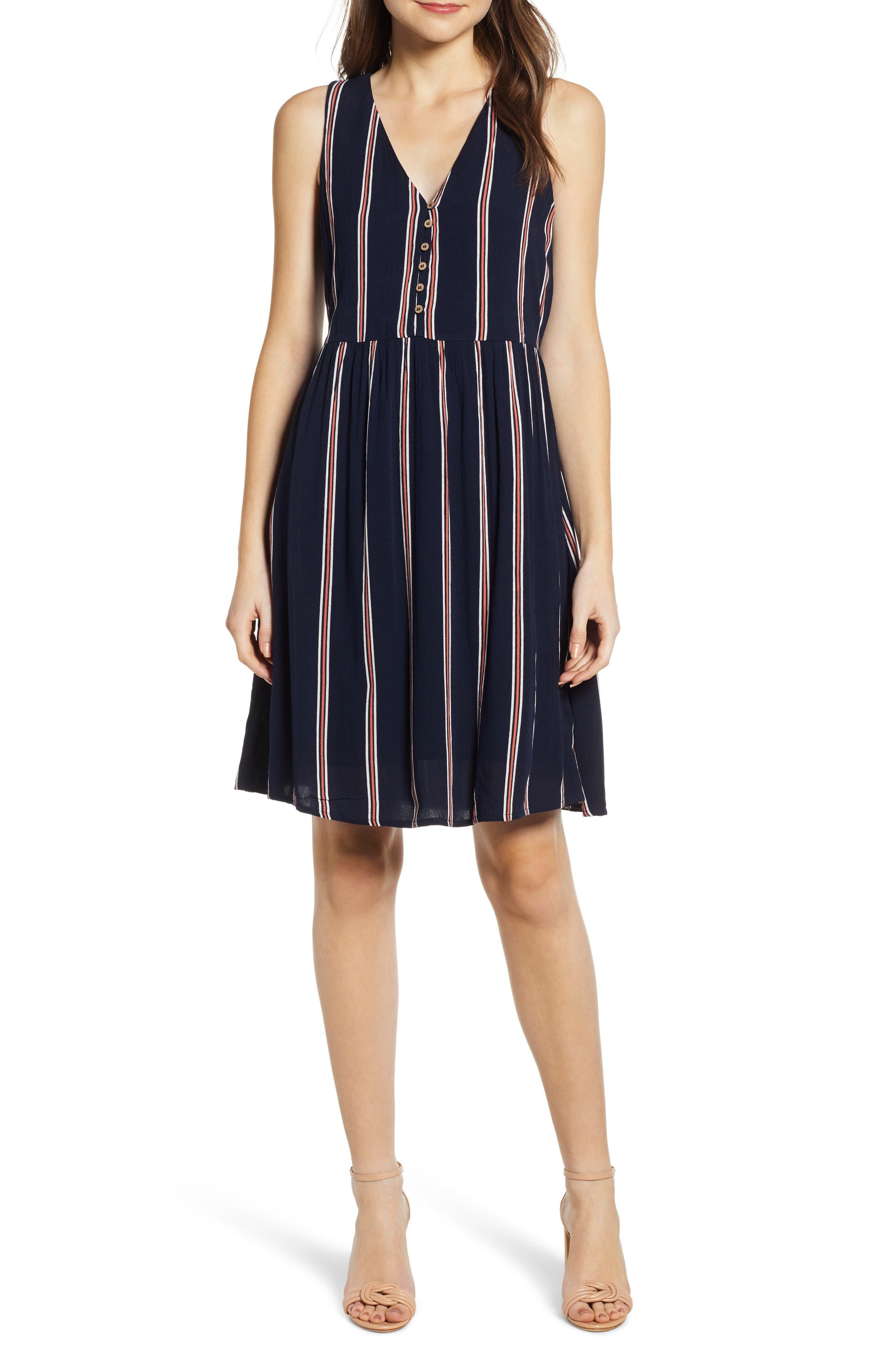 Vero Moda Hanna A-Line Dress, Blue