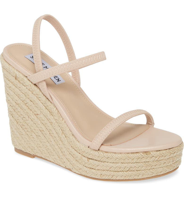 STEVE MADDEN Skylight Wedge Sandal, Main, color, NUDE