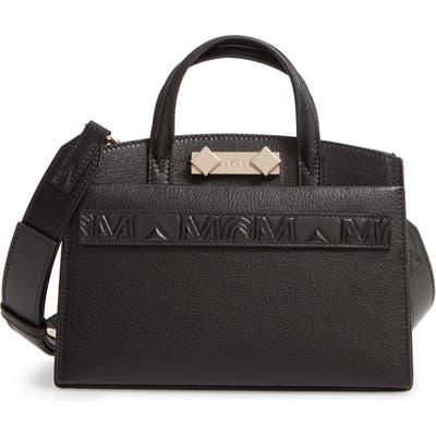 Mcm Mini Milano Goatskin Leather Tote - Black