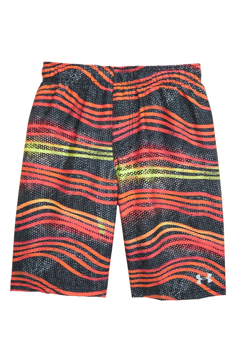 UNDER ARMOUR Atomic Wave Volley Shorts, Main, color, ORANGE SPARK