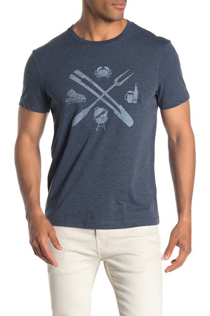 Image of J. Crew BBQ Tools Front Graphic Print T-Shirt