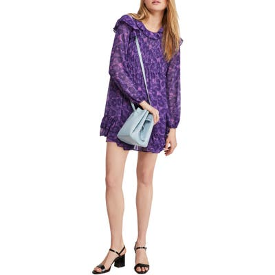 Free People These Dreams Long Sleeve Minidress, Purple